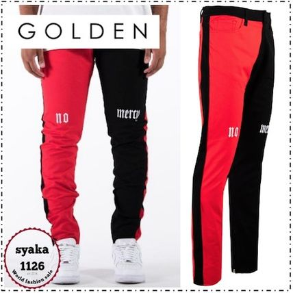 Tapered Pants Street Style Bi-color Tapered Pants