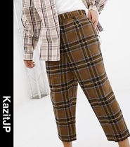 ASOS Other Check Patterns Wool Street Style Sarouel Pants