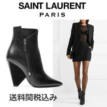 Saint Laurent Niki Block Heels Elegant Style Ankle & Booties Boots