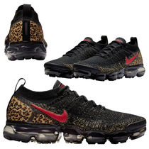 Nike Vapor Max Leopard Patterns Casual Style Street Style Low-Top Sneakers
