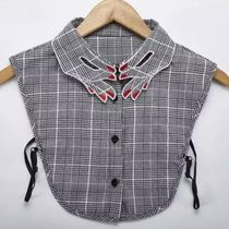 Glen Patterns Casual Style Detachable Collars