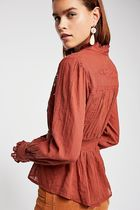 Free People Casual Style Long Sleeves Plain Cotton Medium