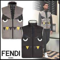 FENDI Plain Down Jackets