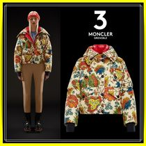 MONCLER GRENOBLE Short Flower Patterns Down Jackets