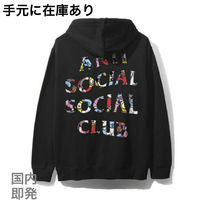 ANTI SOCIAL SOCIAL CLUB Street Style Collaboration Long Sleeves Cotton Hoodies