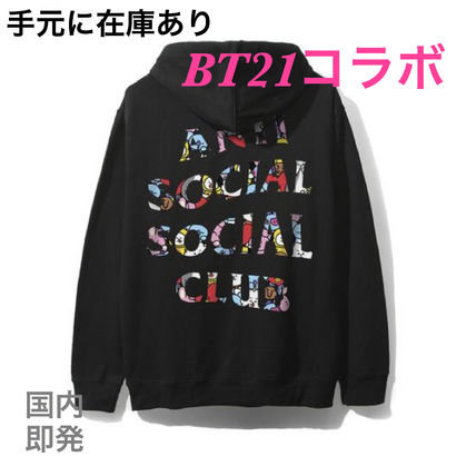Street Style Collaboration Long Sleeves Cotton Hoodies