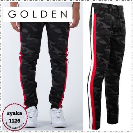 Tapered Pants Camouflage Street Style Tapered Pants