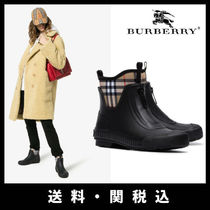 Burberry Other Check Patterns Round Toe Casual Style