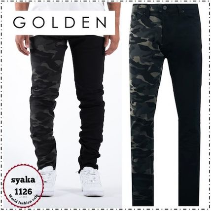 Tapered Pants Camouflage Street Style Plain Tapered Pants