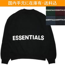 FEAR OF GOD ESSENTIALS Crew Neck Street Style Long Sleeves Oversized Sweatshirts