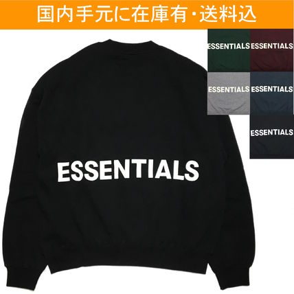 FEAR OF GOD Sweatshirts Crew Neck Street Style Long Sleeves Oversized Sweatshirts
