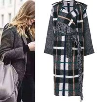 Stella McCartney Other Check Patterns Wool Wrap Coats