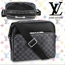 Louis Vuitton DAMIER GRAPHITE Other Check Patterns Blended Fabrics 2WAY Leather