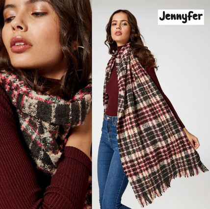 Other Check Patterns Unisex Bold Heavy Scarves & Shawls