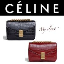 CELINE Crocodile Street Style 2WAY Chain Other Animal Patterns
