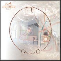 HERMES Blended Fabrics Elegant Style Necklaces & Pendants