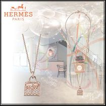 HERMES Kelly Blended Fabrics Chain Elegant Style Necklaces & Pendants