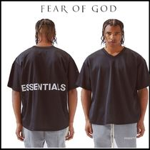 FEAR OF GOD Street Style V-Neck Plain Short Sleeves V-Neck T-Shirts
