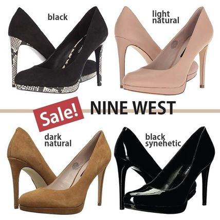 42128e57ad36 ... Nine West Stiletto Plain Pin Heels Elegant Style Stiletto Pumps   Mules  ...