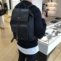 Christian Dior Unisex Nylon Street Style 2WAY Plain Backpacks