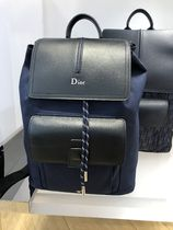 Christian Dior Unisex Nylon Street Style 2WAY Bi-color Plain Backpacks