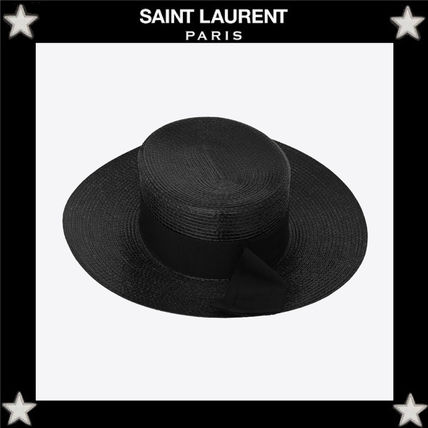 321ff7f369c Saint Laurent 2019 SS Straw Boaters Straw Hats by tigerboogie - BUYMA