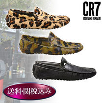 CR7 Camouflage Plain Leather Loafers & Slip-ons