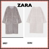 ZARA Casual Style Long Oversized Coats