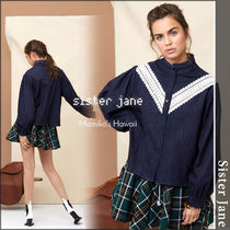 Sister Jane Casual Style Denim Plain Puff Sleeves Shirts & Blouses