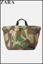 ZARA Camouflage Casual Style Totes