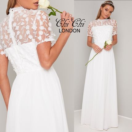 95f359bf0ecb ... Chi Chi London Wedding Dresses A-line Long Short Sleeves High-Neck  Wedding Dresses ...