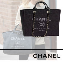 CHANEL DEAUVILLE Unisex 2WAY Totes