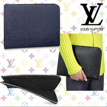 Louis Vuitton EPI Street Style Bag in Bag A4 Plain Leather Clutches