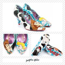 Irregular Choice Casual Style Faux Fur Other Animal Patterns Block Heels