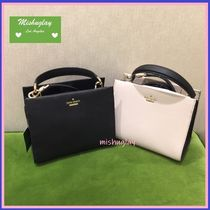 kate spade new york 2WAY Plain Leather Elegant Style Shoulder Bags