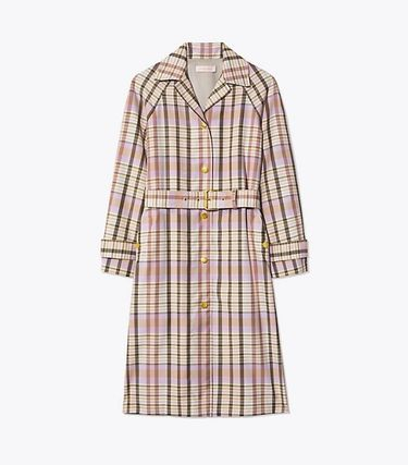 Tory Burch Trench Other Check Patterns Elegant Style Trench Coats 4