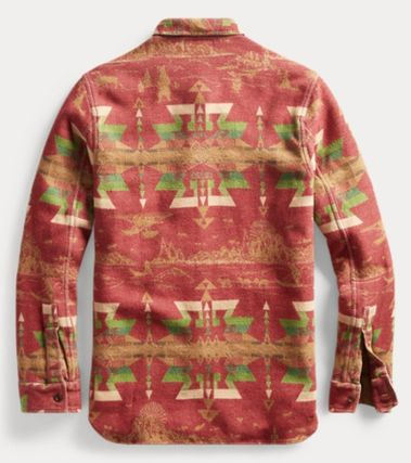 RRL Shirts Street Style Long Sleeves Cotton Tribal Surf Style Shirts 3