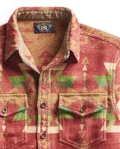 RRL Shirts Street Style Long Sleeves Cotton Tribal Surf Style Shirts 4