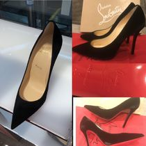 Christian Louboutin Decoltish Suede Pin Heels Party Style Pointed Toe Pumps & Mules