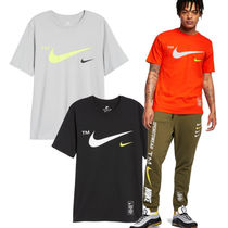 Nike Crew Neck Pullovers Street Style Plain Cotton Short Sleeves