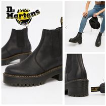 Dr Martens ROMETTY Platform Street Style Plain Leather Chelsea Boots