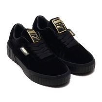 PUMA Casual Style Velvet Street Style Low-Top Sneakers