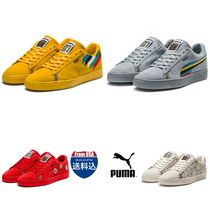 PUMA SUEDE Unisex Suede Street Style Plain Sneakers