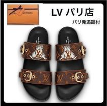 Louis Vuitton MONOGRAM Monogram Open Toe Blended Fabrics Other Animal Patterns