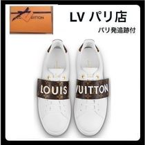 Louis Vuitton Monogram Round Toe Casual Style Leather Low-Top Sneakers