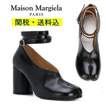Maison Martin Margiela Plain Leather Elegant Style High Heel Pumps & Mules