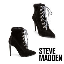 Steve Madden Casual Style Plain Pin Heels Ankle & Booties Boots