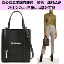 BALENCIAGA EVERYDAY TOTE Casual Style 2WAY Plain Leather Shoulder Bags