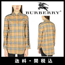 Burberry Other Check Patterns Long Sleeves Cotton Medium