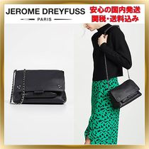 Jerome Dreyfuss Studded Chain Plain Leather Elegant Style Shoulder Bags